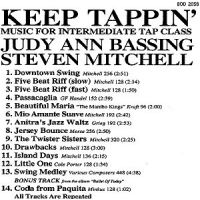 BOD2058 Keep Tappin' - Judy Ann Bassing & Steven Mitchell - Music for Tap Class