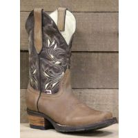 RockinLeather Womens Dark Brown With Narrow Square Toe Western Boots 2133