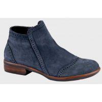 Naot Navy Velvet Nubuck Nefasi Womens Short Ankle Boots 26065-D74