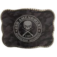 Wallet Buckle 2nd Amendment Camo Belt Buckle