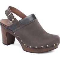 Dansko Delle Grey Milled Nubuck Leather Womens Backless Heels 3027-957895