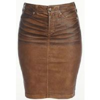 Emma Tan Terra Hide Leather-Like Not Your Daughter Jeans Womens Skirts