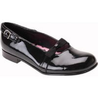 Audrey II Black Patent Stride Rite Girls Dress Shoes (Infant-Toddlers)