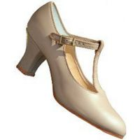 3556 Tan Leather T-Strap Character/Tap Shoes **ONLINE PRICE ONLY**