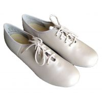 354 White Lace Up Tap Shoes