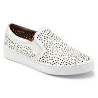 Vionic White Midi Perf Slip On Comfort Womens Sneakers 356MIDI