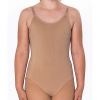 35A Nude Leotard with Clear and Nude Straps by Barbette
