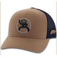 Hooey Tan and Black Mesh Snapback Mens Ball Cap 4028T