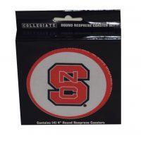 NC State Collegiate 4 Inch Round Neoprene Coaster Set 436357