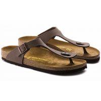 43751 Gizeh Mocca Birkibuc Womens Comfort Birkenstock Sandals