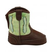 M & F Double Barrel Green Wyatt Baby Bucker Western Boots 4421408