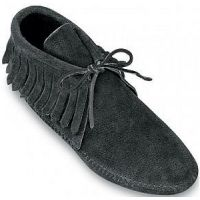 482 Suede Softsole Ankle Tie Fringe Minnetonka Moccasin Womens Boots