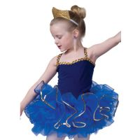 500TG ORGANDY TUTU WITH GOLD TRIM (Shown in Royal) Child Sizes