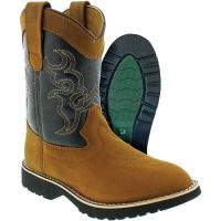 C O Lynch Itasca Brown/Black Buckaroo Kids Boots 5027035
