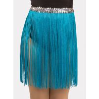 536S 12 IN Fringe Skirt with Siilver sequin band Child