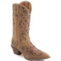 52101 MIRANDA Tan/Black Laredo Womens Western Cowboy Boots