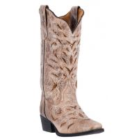 52123 Roxanne Tan Leather Square Toe Womens Laredo Western Boots