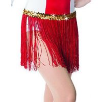 536G 12 IN Fringe Skirt with Gold sequin band Child