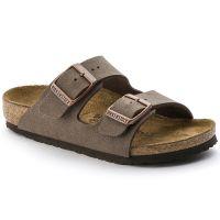 Birkenstock Arizona Slide Mocha Leather Kids Sandals 55289-3