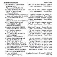 RR6000 BALLET MUSIC FOR CLASS