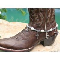 Boot Candy White Ovals with Oval Design Crosses 608158