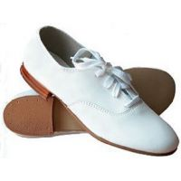 654 White Ladies Clogging/Tap Shoes  Sizes 31/2-10**ONLINE PRICE ONLY**
