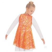 f413534caef0 Eurotard Girls Heavenly Lace Tunic Top 65568C **ONLINE ONLY**