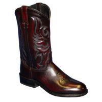 Abilene Black Cherry Cowhide Roper Mens Western Boots 6745