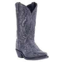 Dan Post Laredo Black Distressed with Stitch Mens Western Boots 68407