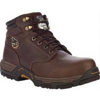 7693 Brown Leather 6in Diamond Trax Steel Toe Georgia Mens Work Boots
