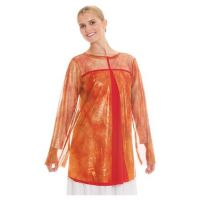 Eurotard Girls Flame of Fire Split Layer Tunic Top 80830C **ONLINE ONLY**