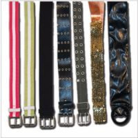 A-123 Sequin Belt with Satin Ribbon Tie
