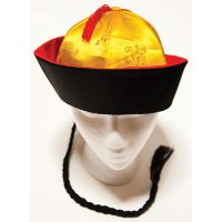 H-119 CHINESE HAT WITH BRAID
