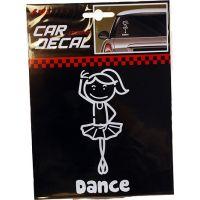 G141 Ballerina Car Window Sticker