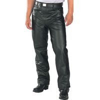 101BLK Black Leather Mens Pants