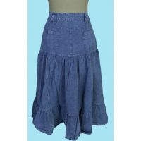 PSL-078 Denim Blue 100% Cotton 5-Pocket Slimmimg Scully Womens Skirts