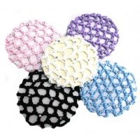 Crochet Bun Cover with Rhinestones A-2111