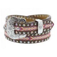 3D Belt Company Angel Ranch 3/4 Inch Multi Color Girls Fashion Belt A5222