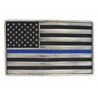 Montana Silversmith Stand Behind The Blue Line Flag Attitude Buckle A644TBL
