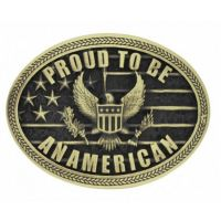 Montana Attitude Buckle Proud to be an American A670C
