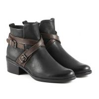 Bussola Antwerpen Womens Cross Straps Short Ankle Boots  ALESSIA