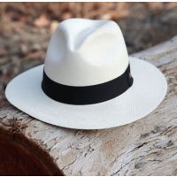 California Hat Company White Genuine Panama Hat AUS-1601