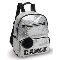 Danshuz Silver Sequin Dance Backpack B451