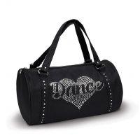 Danshuz Rhinestone Heart Duffel Bag B580