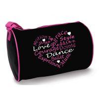 Danzhuz Dance Words In A Heart Shape Duffel Bag B730
