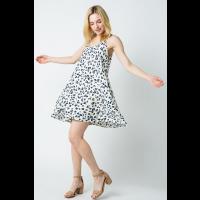 Baeverly Ivory Multi Leopard Cami Mini Womens Dress BD4214
