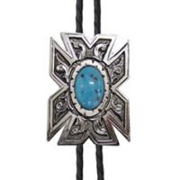 BOL126 Men's Andwest Southwest Turquoise Bolo Tie