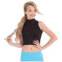 Body Wrappers Black Mock Neck Girls Pullover BWP063