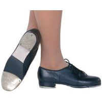CG100 Hoof Master Black or Carmel Stacked Heel Tap Shoes (Medium-Wide Widths & Sizes 4-10)