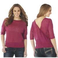 CG30704 3/4 Sleeve Open V-Back Womens Cowgirl Up Shirt